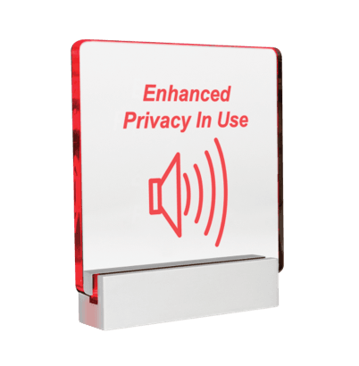 Privacy setting indicator for AtlasIED Sound Masking System from vibra-Sonic Control