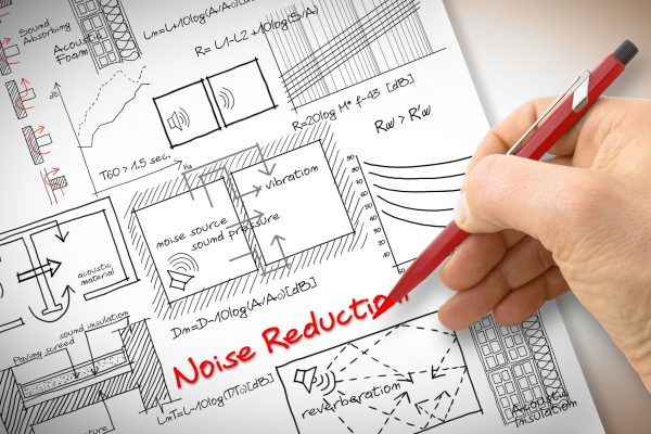 Image of plans for noise reduction in office